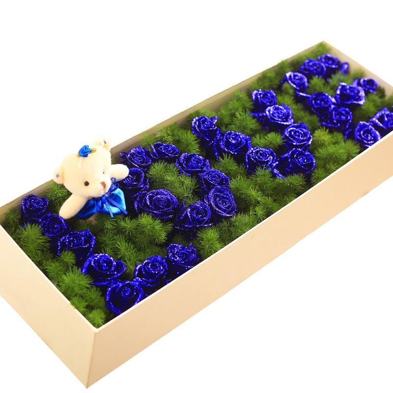 北京蓝色妖姬代表什么意思_鲜花速递网_深圳千花科技有限公司