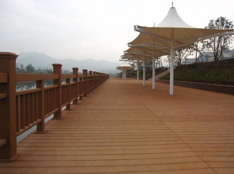 共挤塑木雕栏 塑木渣滓桶公司 浙江冠森新资料无限公司