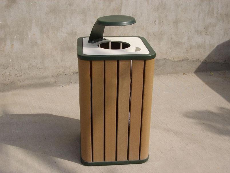 着名塑木渣滓桶公司 塑木围栏厂商 浙江冠森新资料无限公司