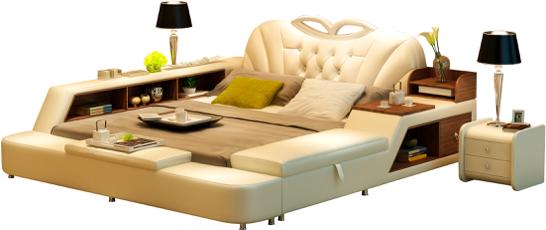 真皮软床组合-北欧沙发作产商-佛山市顺德区顾邦家具无限公司