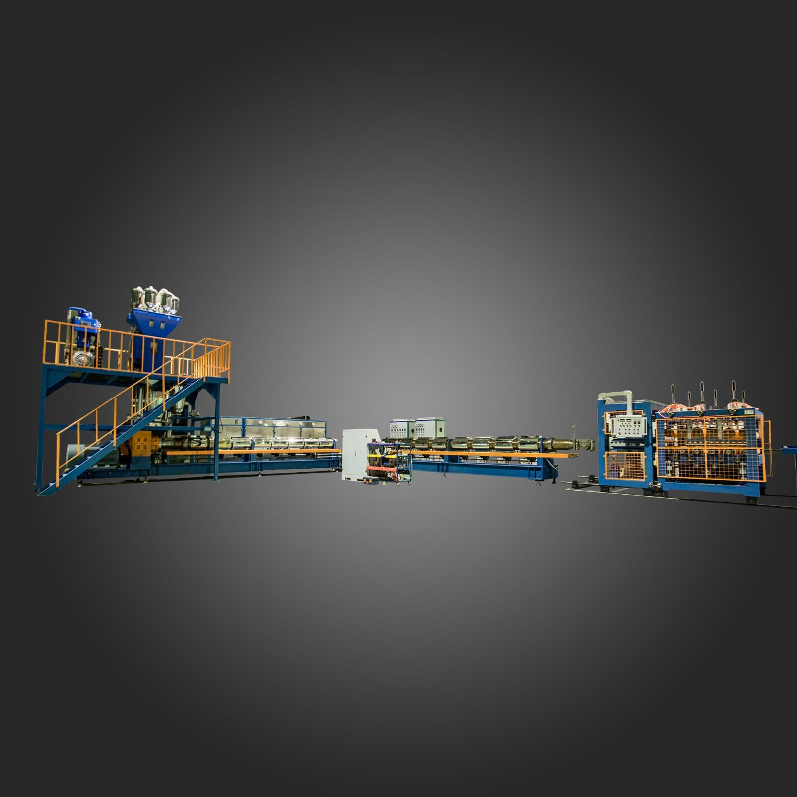 新型纯二氧化碳挤塑板生产设备_保护膜网