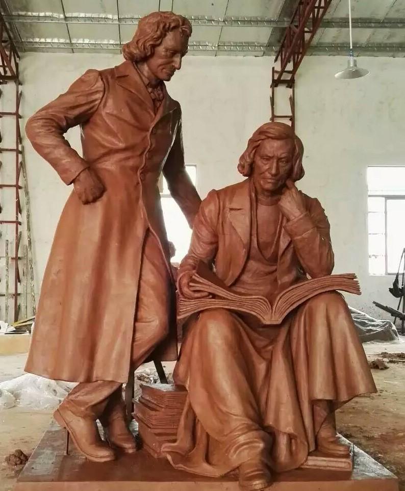 世界之窗写实人物雕塑报价/美高美酒店壁画价格/深圳市展羽雕塑工程有限公司