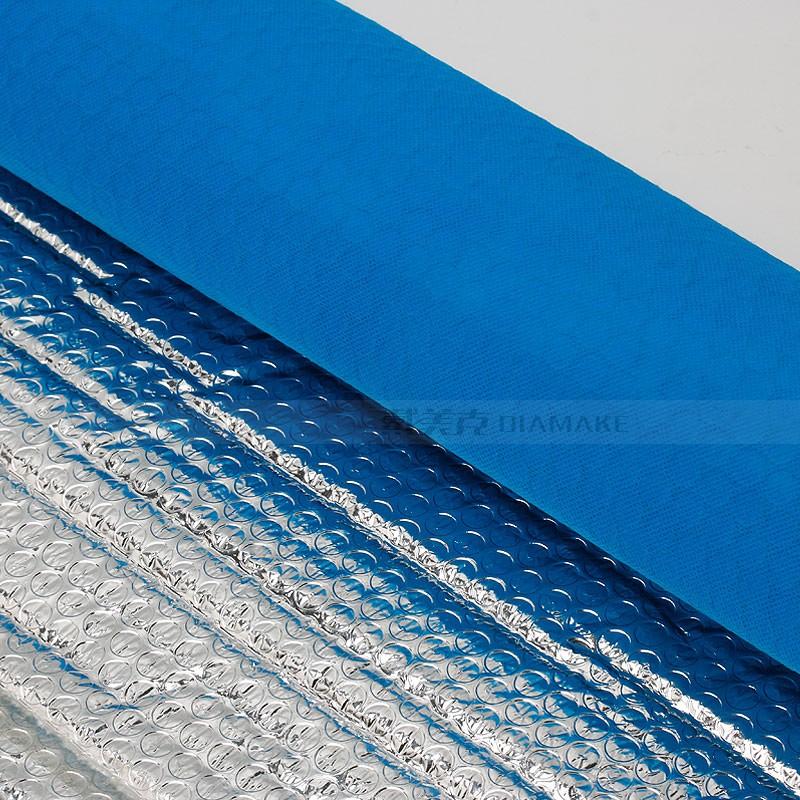 蓝色无纺布复膜加工 白色爱心气泡膜 浙江戴美克包装制品有限公司