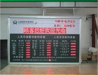 LED数显外币汇率牌_LED显示屏模组相关