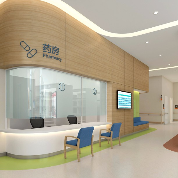 高品质医院流程规划效果图诚信经营 装潢设计康复医院bim设计参考物有所值