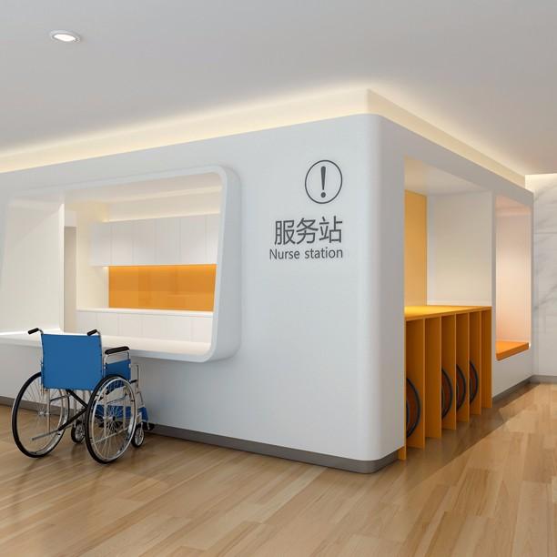 高端医养设计效果图_专科医院机电设计项目_上海优信建设工程有限公司